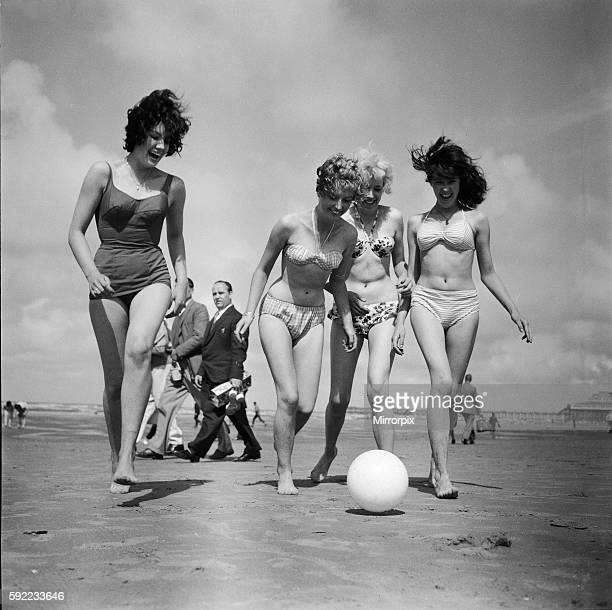 Jean Formon aged 15 Monica Wardle Jenny Lee17 and Mary Gent15 6th August 1961