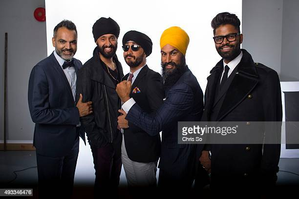 Left to right Arshad Khan film maker Parambir Keila emergency room physician Jasmeet Singh seated with sunglasses comedian YouTuber Jagmeet Singh...