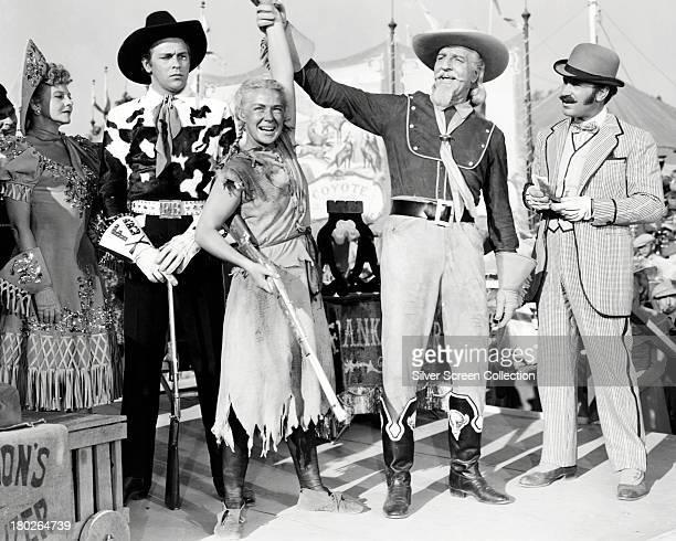 Benay Venuta as Dolly Tate Howard Keel as Frank Butler Betty Hutton as Annie Oakley Louis Calhern as Buffalo Bill Cody and Keenan Wynn as Charlie...