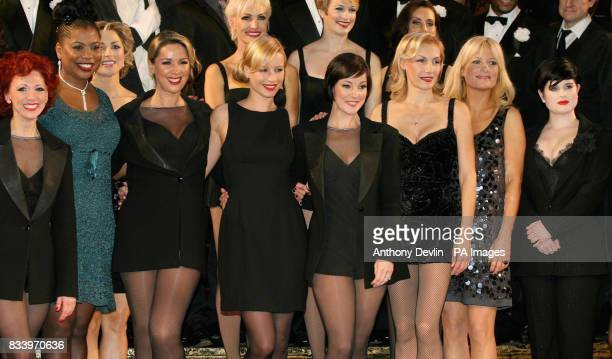 Left to right Bonnie Langford Brenda Edwards Claire Sweeney Denise Van Outen Ruthie Henshall Ute Lemper Gabby Roslin and Kelly Osbourne attend a full...