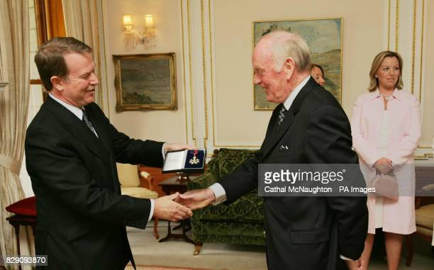 British Ambassador Stewart Eldon presents Michael O'Kennedy a retired Fianna Fail TD with his honorary CMG Michael O'Kennedy became the first former...