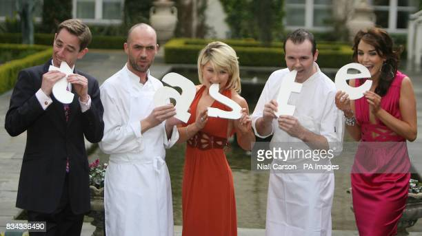 Left to right Broadcaster Ryan Tubridy Chef Dylan McGrath Izabelela Chudzicka Chef Oliver Dunne and Miss Ireland Blathnaid McKenna at the launch of...