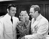 Clark Gable Jean Harlow and Wallace Beery as they appear in 'China Seas' directed by Tay Garnett 20th April 1935