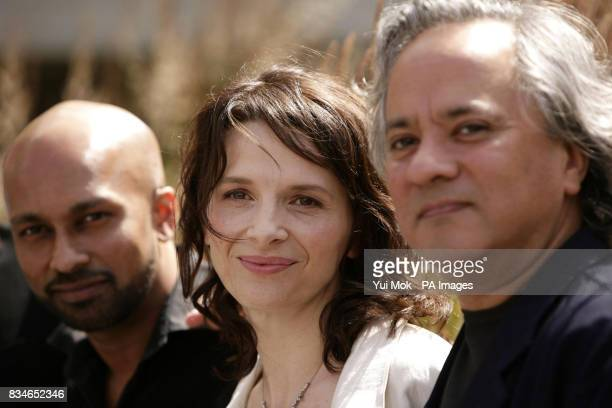 Dancer and choreographer Akram Khan actress Juliette Binoche and artist Anish Kapoor attending the launch of the new dance theatre and film...