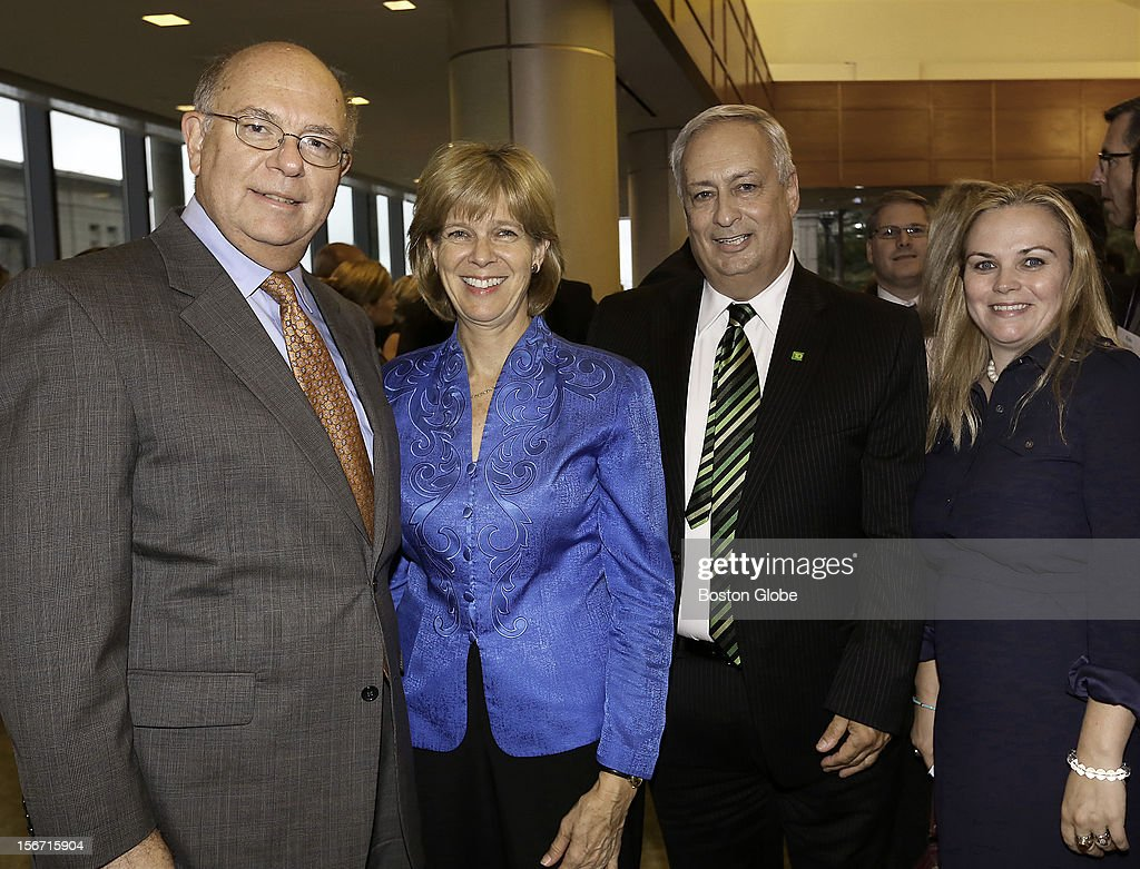 Left to right, David Floreen, of Andover, Elizabeth Vale, of Cambridge, John Conte, of Belmont, and Katherine Craven, of West Roxbury, were among the over 1,300 guests attended the 2012 New England Council Annual Dinner held at the World Trade Center.