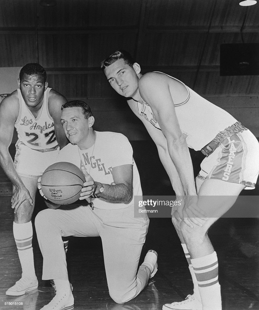 Elgin Baylor with Coach and Teammate