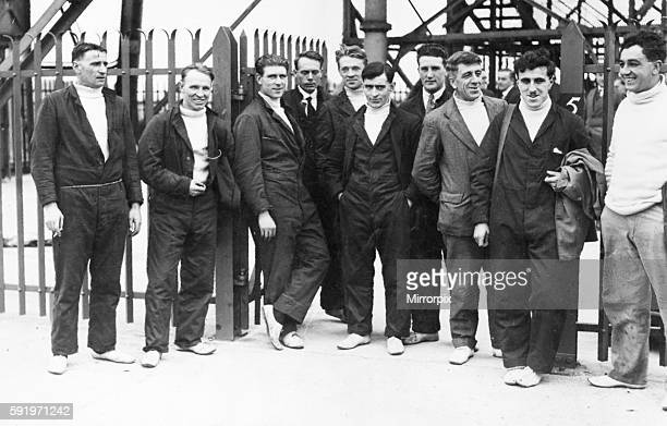 Left to right F Kemp G Taylor H Rowe F Noble Hector Ford Charle Arthur Burton Maurice Frank Littlekitt J Binks A Cook and Wilfred Moule 24th October...