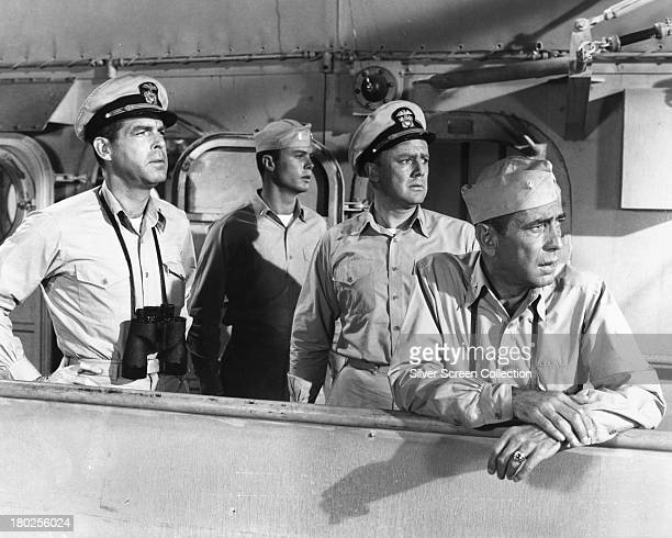 Fred MacMurray Robert Francis Van Johnson and Humphrey Bogart in 'The Caine Mutiny' directed by directed by Edward Dmytryk 1954