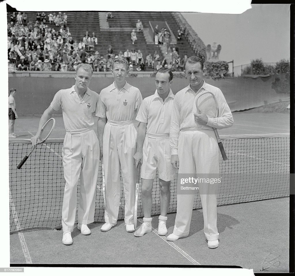 U S and Australian Doubles Teams Before Davis Cup Match