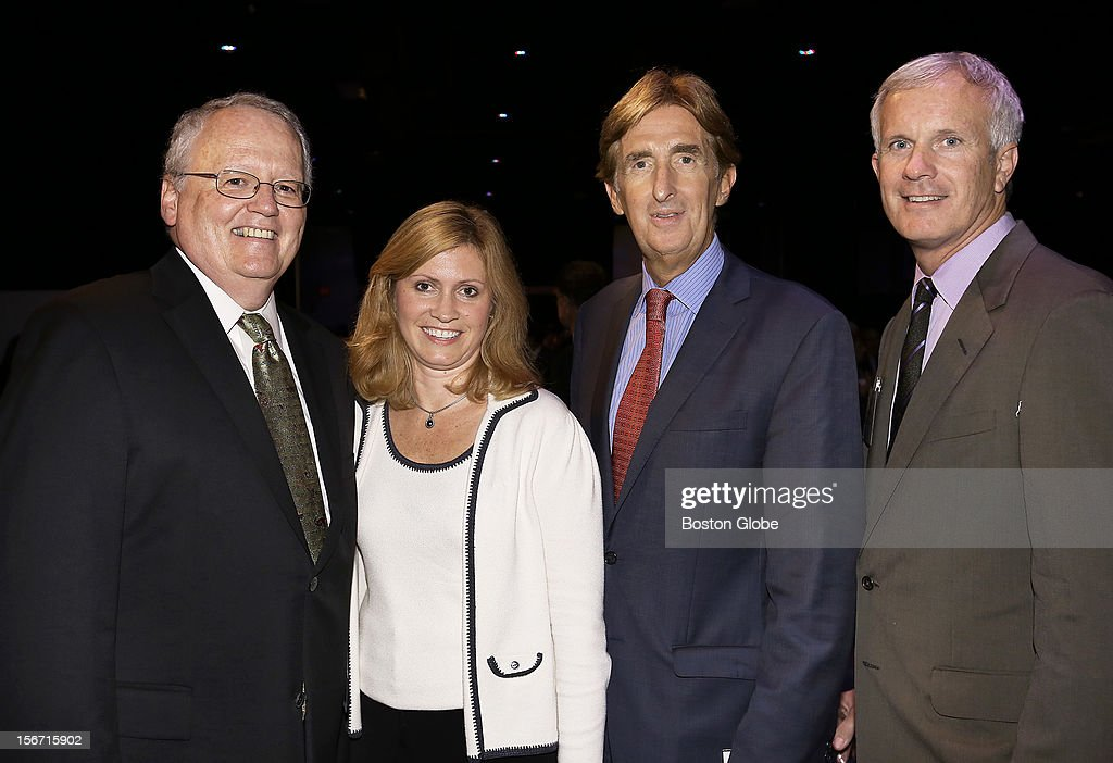 Left to right, Jim McCarthy, President of Suffolk University, Tara Taylor, of North Reading, John Nucci, of East Boston, and Leo Corcoran, of Boston, were among the over 1,300 guests attended the 2012 New England Council Annual Dinner held at the World Trade Center.