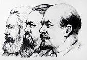 Left to Right Karl Marx Friedrich Engels Vladimir Lenin