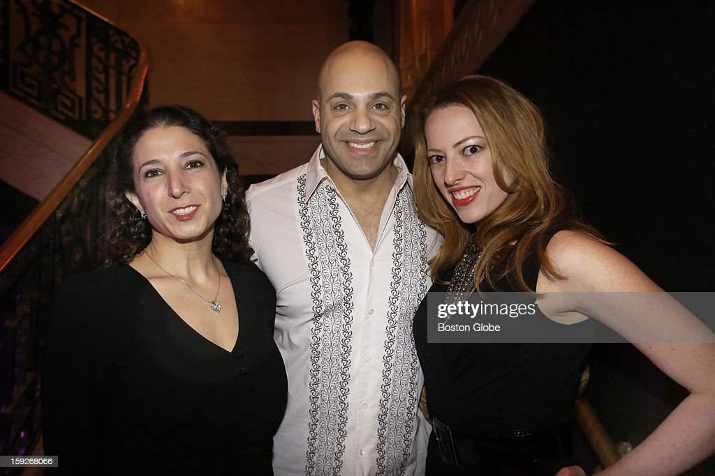 Left to right Leah Grossman of Boston Gil Regev of Brighton and Laura Powers of Boston were among over 800 guests who attended the Matzo Ball the...