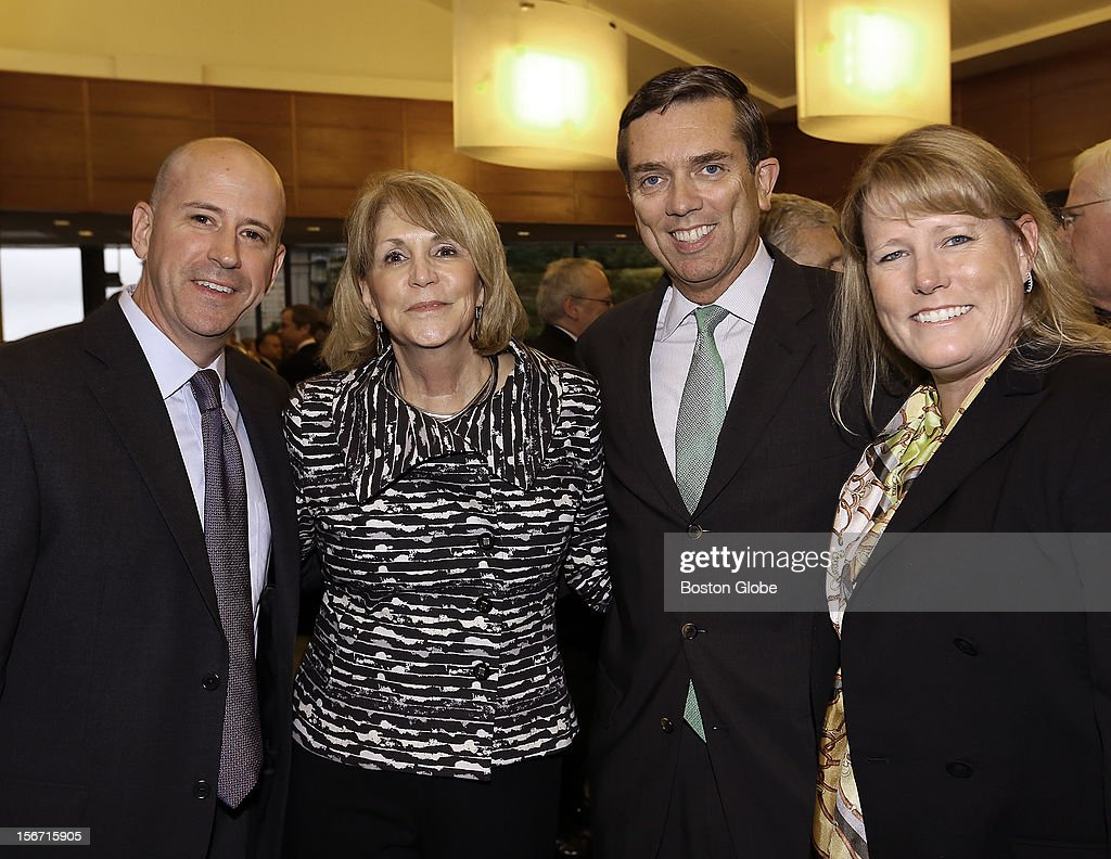 Left to right, Michael Sargent, of Portland, Maine, Lynda Bernard, of West Roxbury, Michael O'Neill, of West Roxbury, and Lauren Rowley of Washington, D.C., were among the over 1,300 guests attended the 2012 New England Council Annual Dinner held at the World Trade Center.