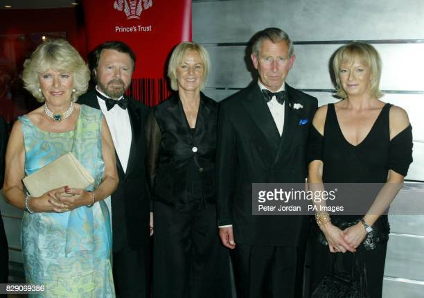 Mrs Camilla Parker Bowles Bjorn Ulvaeus AnniFrid Prinzessin Reuss The Prince of Wales and producer Judy Craymer pose for photos at the Prince of...