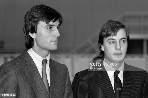 Left to right Phillip and Timothy Knatchbull grandsons of the Earl Mountbatten of Burma at Luton Airport where Timothy Knatchbull officially named...