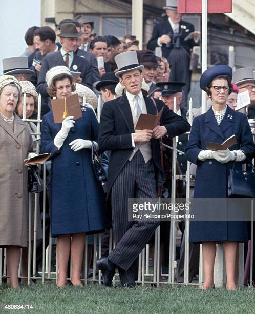 Princess Alexandra Angus Ogilvy and Princess Marina at the Epsom Derby in Surrey on 2nd June 1965
