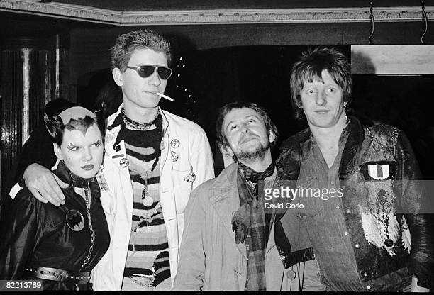 punk fashion icon Soo Catwoman guitarist Captain Sensible of British punk group The Damned singer Wreckless Eric and Rat Scabies also of the Damned...