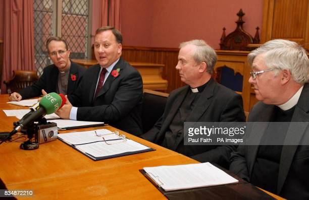 Rev Ian Ellis of the Church of Ireland Rev Trevor Gribbon of the Presbyterian Church Bishop Donal McKeown of the Roman Church and Trevor Jamieson of...
