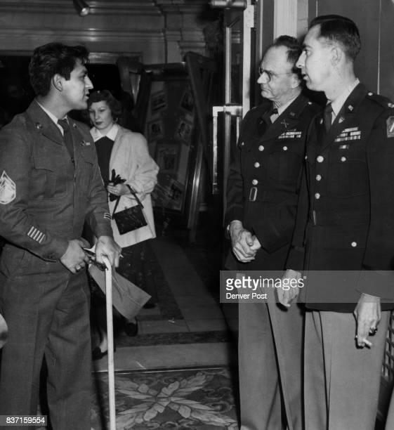 Sgt Ernest Contrearas Col George Evans Burritt and Maj FJ Byron Credit Denver Post