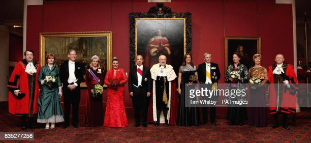 Left to right Sheriff of London Roger Gifford Dr Clare Taylor Tom Hoffman CC Duchess of Gloucester Lady Mayoress Lin Luder President of the United...
