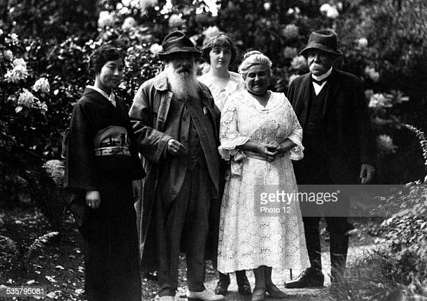 Takeko Kuroki French painter Claude Monet his niece Alice Butler his step daughter French painter Blanche HoschedeMonet and French statesman Georges...