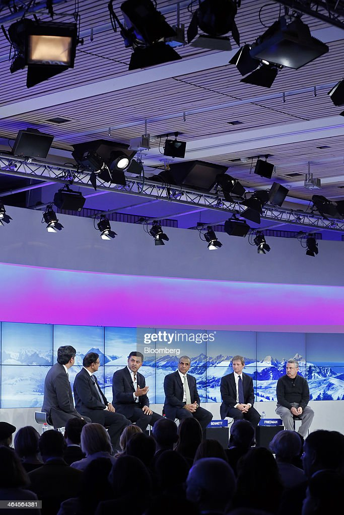Vikram Chandra a presenter for NDTV in India Palaniappan Chidambaram India's finance minister Nikesh Arora chief business officer of Google Inc Sunil...