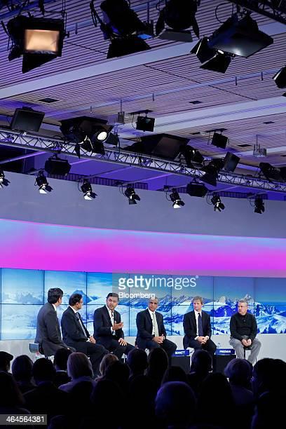 Vikram Chandra a presenter for NDTV in India Palaniappan Chidambaram India's finance minister Nikesh Arora chief business officer of Google Inc Sunil...