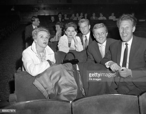 Yana Janette Scott Jackie Rae Gary Miller and Bruce Forsyth at a rehearsal of the Royal Variety Performance