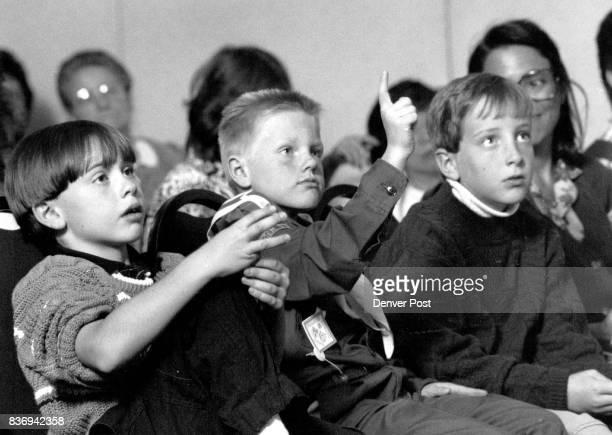 OCT 21 1989 left to right Z Ach Simpson 8 Chris Dallman 8 Mark Filarowicz 8 all from Homestead Elem school a Cherry Creek school dist school they...