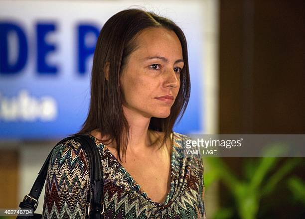 EP leftist guerrillas fighter Tanja Nijmeijer at the Convention Palace in Havana during peace talks with the Colombian government on February 4 2015...