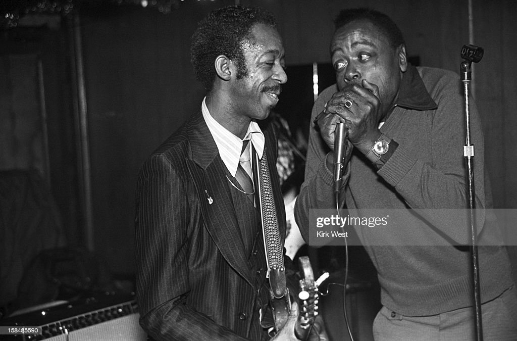 Lefty Dizz and Carey Bell perform at the Checkerboard Lounge, Chicago, Illinois, December 7, 1981.