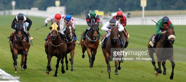 Leg Spinner ridden by Yutaka Take winning the Carvill Shergar Cup Stayers at Ascot Racecourse