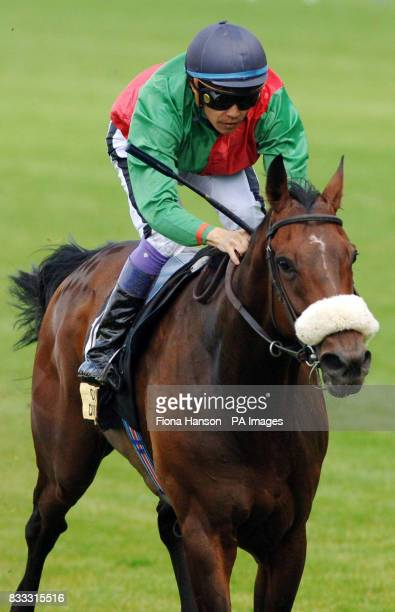 Leg Spinner ridden by Yutaka Take wins the Carvill Shergar Cup Stayers Handicap at Ascot Racecourse