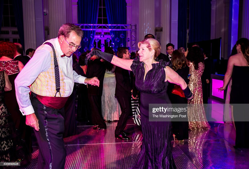 NPR legal correspondent Nina Totenberg dances with her husband Dr. David Reines at the Washington National Opera (WNO) Ball at the Organization of American States on Saturday, May 21, 2016. The annual Ball celebrated the WNO's 60th anniversary season.