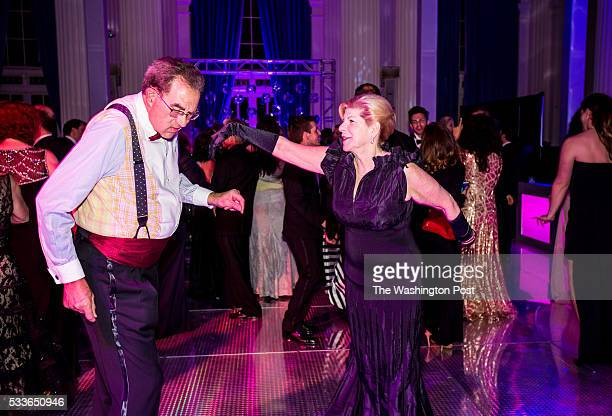 NPR legal correspondent Nina Totenberg dances with her husband Dr David Reines at the Washington National Opera Ball at the Organization of American...