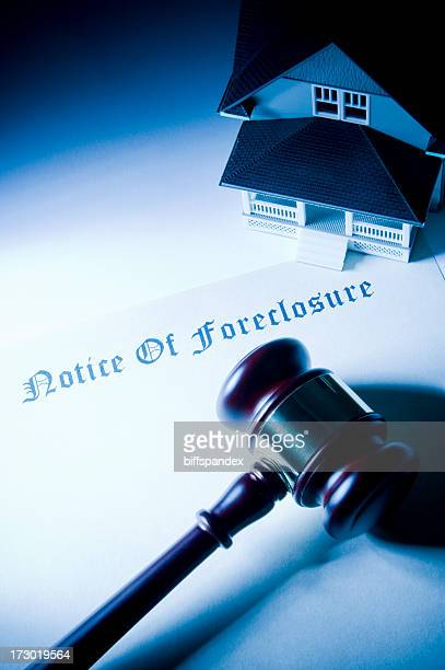 Legal Foreclosure With Gavel and House