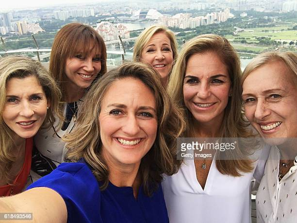 Legend Ambassadors Monica Seles of the United States Iva Majoli of Croatia Mary Pierce of France Chris Evert of the United States Arantxa Sanchez...