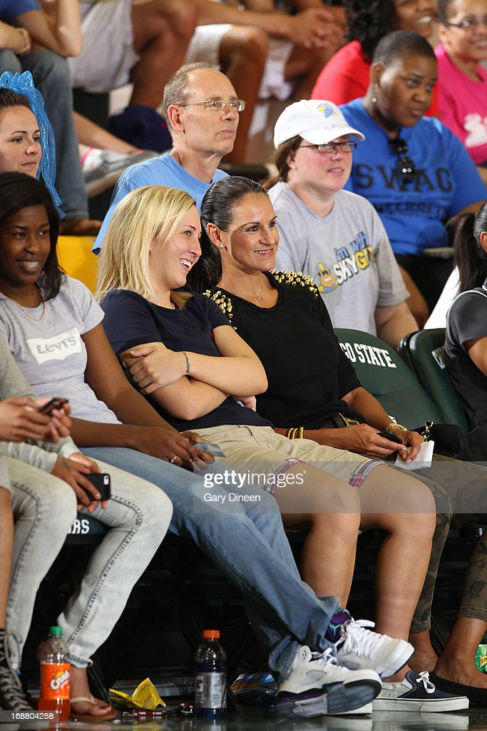 Legend and former Chicago Sky team member Ticha Penicheiro in attendance for the Sky pre-season game against the New York Liberty on May 15, 2013 at the Jacoby D. Dickens Physical Education and Athletic Center on the campus of Chicago State University in Chicago, Illinois.