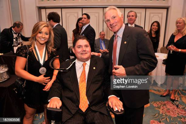 Legend and Olympic gymnast Shawn Johnson President of Buoniconti Fund Marc Buoniconti and Founder and CEO of The Buoniconti Fund Nick Buoniconti...