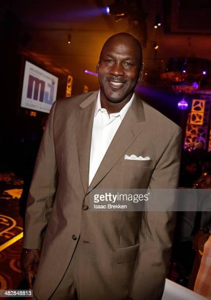 NBA legend and tournament host Michael Jordan attends the 13th annual Michael Jordan Celebrity Invitational gala at the ARIA Resort Casino at...