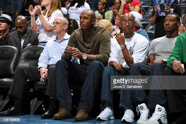 Legend Anfernee Hardaway takes in the game of the Minnesota Lynx against the Atlanta Dream during Game Three of the 2011 WNBA Finals at Philips Arena...