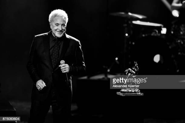'Legend' award winner Sir Tom Jones is seen on stage at the Bambi Awards 2017 show at Stage Theater on November 16 2017 in Berlin Germany