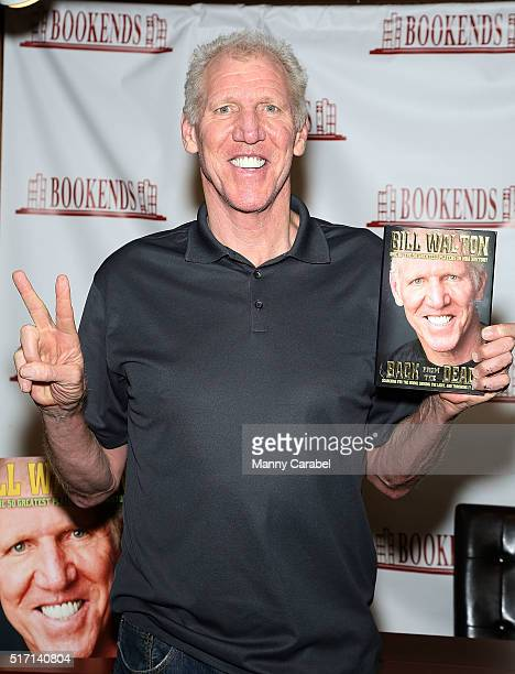 Legend Bill Walton signs copies of his book 'Back From The Dead' at Bookends on March 23 2016 in Ridgewood New Jersey