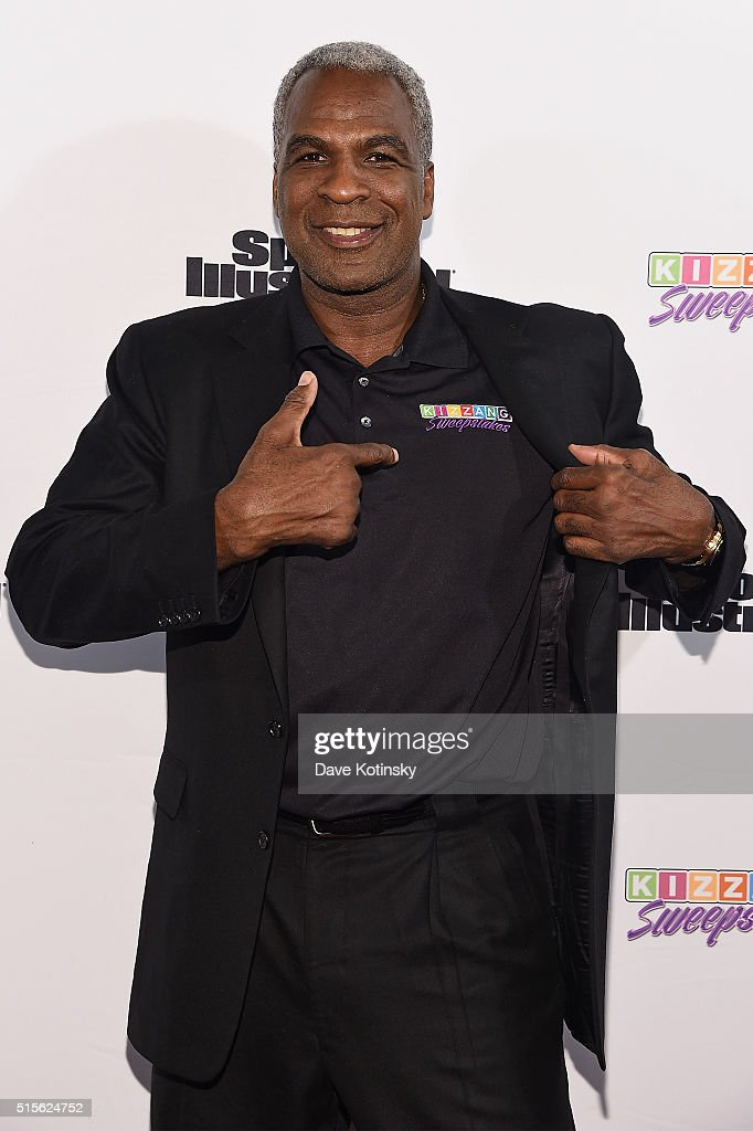 Legend <a gi-track='captionPersonalityLinkClicked' href=/galleries/search?phrase=Charles+Oakley&family=editorial&specificpeople=213241 ng-click='$event.stopPropagation()'>Charles Oakley</a> attends the Sports Illustrated & KIZZANG Bracket Challenge Party at Slate on March 14, 2016 in New York City.
