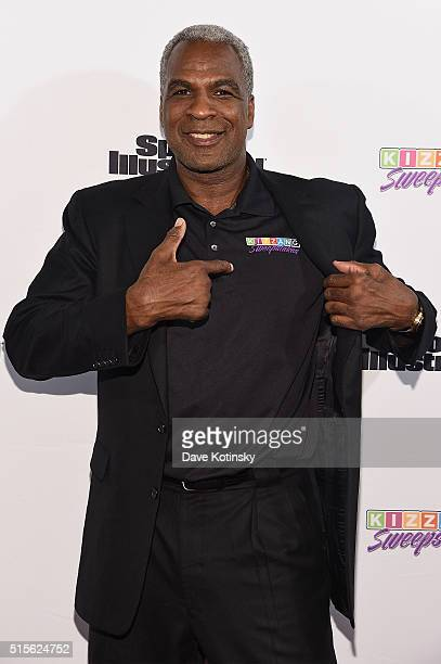 Legend Charles Oakley attends the Sports Illustrated KIZZANG Bracket Challenge Party at Slate on March 14 2016 in New York City