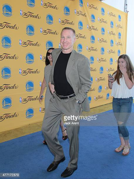 Legend Chris Mullin arrives for the game of the Cleveland Cavaliers against the Golden State Warriors in Game Five of the 2015 NBA Finals on June 14...