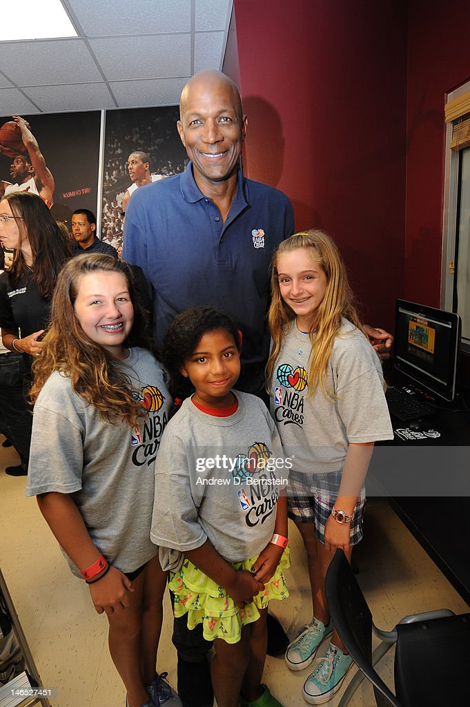 Legend <a gi-track='captionPersonalityLinkClicked' href=/galleries/search?phrase=Clyde+Drexler&family=editorial&specificpeople=208989 ng-click='$event.stopPropagation()'>Clyde Drexler</a> attends the unveiling of the NBA Cares Learn and Play Center at the Miami Springs Community Center presented by HP and State Farm on June 18, 2012 in MIami, Florida.