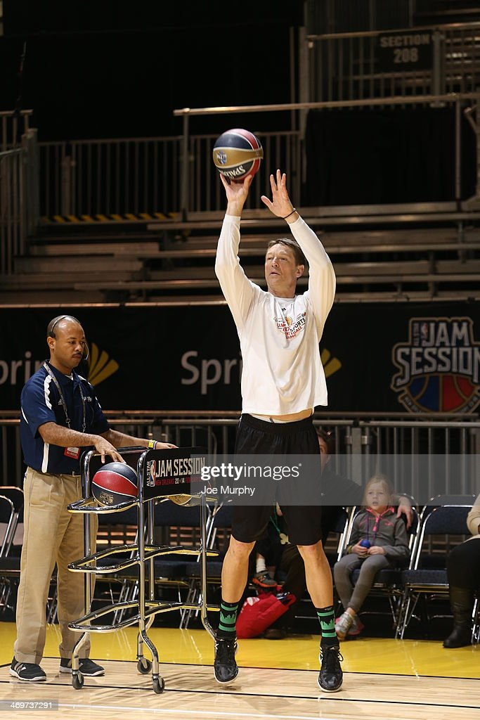 NBA Legend Detlef Schrempf participates in the Legends 3-Point Challenge at Sprint Arena during the 2014 NBA All-Star Jam Session at the Ernest N. Morial Convention Center on February 16, 2014 in New Orleans, Louisiana.