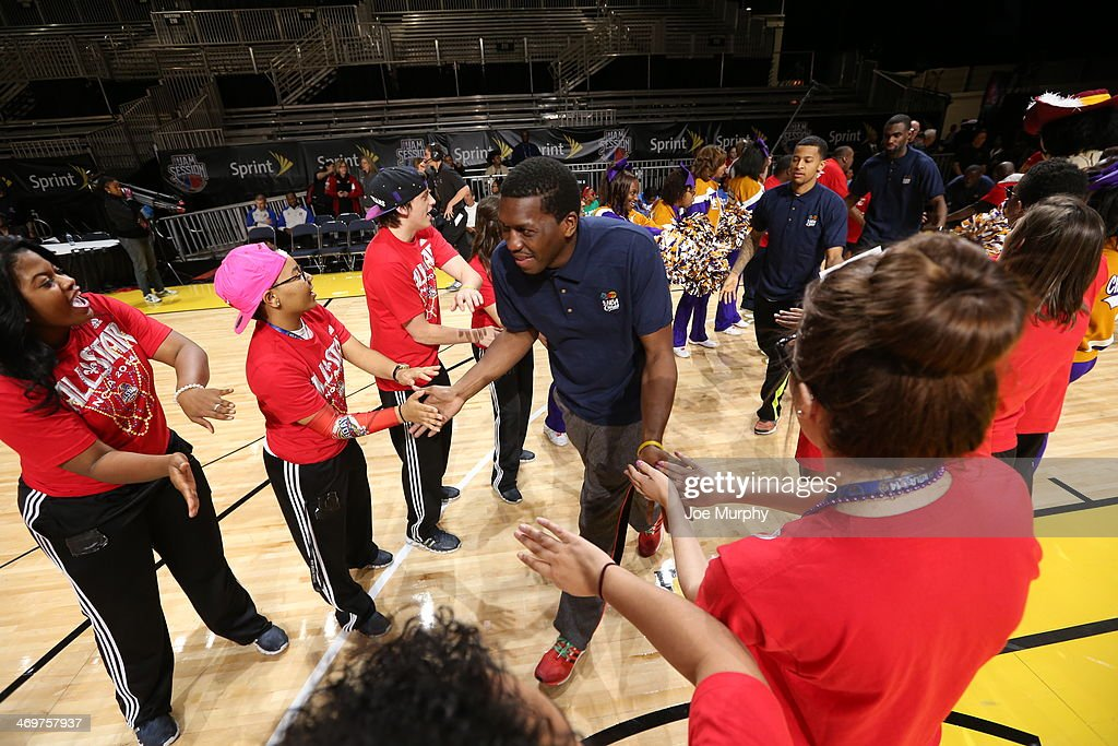 NBA Legend Felipe Lopez is announced before the NBA Cares Special Olympics Unified Sports Basketball Game at Sprint Arena during the 2014 NBA All-Star Jam Session at the Ernest N. Morial Convention Center on February 16, 2014 in New Orleans, Louisiana.