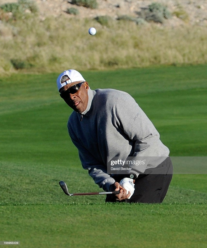 NBA legend <a gi-track='captionPersonalityLinkClicked' href=/galleries/search?phrase=Julius+Erving&family=editorial&specificpeople=202966 ng-click='$event.stopPropagation()'>Julius Erving</a> attends the first annual Soul Train Celebrity Golf Invitational presented by Hennessy at the Las Vegas Paiute Golf Resort on November 9, 2012 in Las Vegas, Nevada.